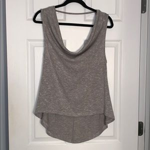 Sleeveless tank with draped neck line!